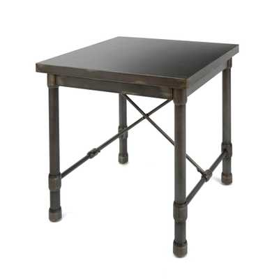 Oxford Industrial Bronze End Table - Home Depot