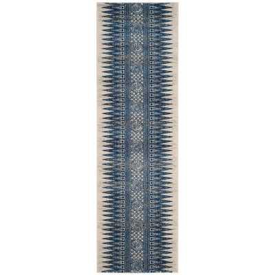 Evoke Ivory/Blue 2 ft. x 7 ft. Runner Rug - Home Depot