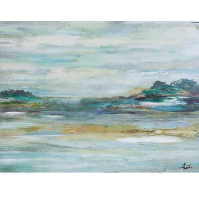 'Wave Goodbye' Painting Print on Wrapped Canvas - Birch Lane
