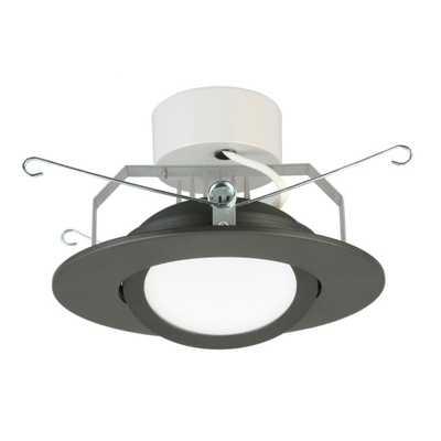 Lithonia Lighting 6 in. Matte Black Recessed Gimbal LED Module (3000K) - Home Depot