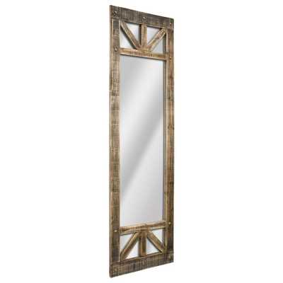 70.25 H x 20.25 L x 1 D Rectangular Brown Rustic Wood Full Length Mirror - Home Depot