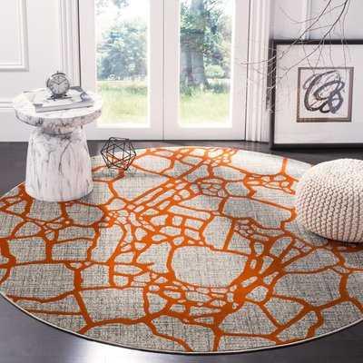 Sevastopol Gray/Orange Area Rug - Wayfair