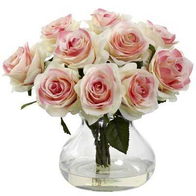 Rose Centerpiece in Vase - Birch Lane