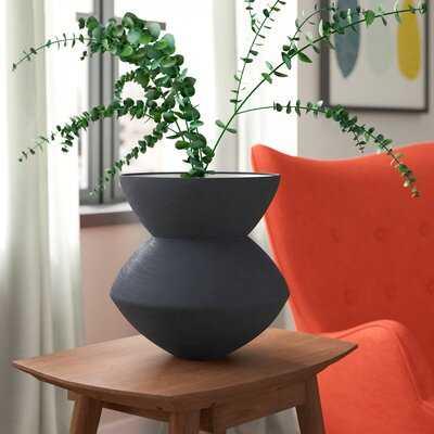 Gabriella Ceramic Angular Scratch Table Vase - Wayfair