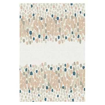 Watercolor Mosaic Rug Rosette 6'x9' - West Elm