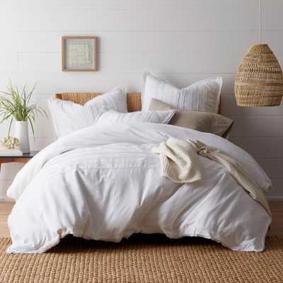 Beachcomber White Cotton Full Duvet Cover - Home Depot