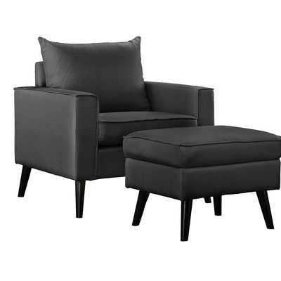 Brisson Arm Chair and Ottoman - Wayfair