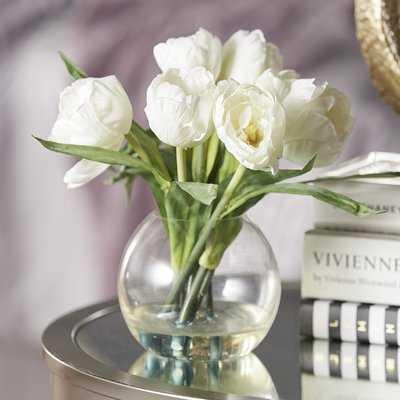 Tulips Floral Arrangement with Vase - Birch Lane