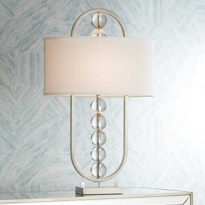 Possini Euro Wylson Crystal Globes Contemporary Table Lamp - Style # 15H33 - Lamps Plus