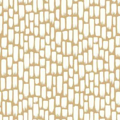 Risky Business 2 Sumi-E Removable Wallpaper, Metallic Gold/White - Home Depot