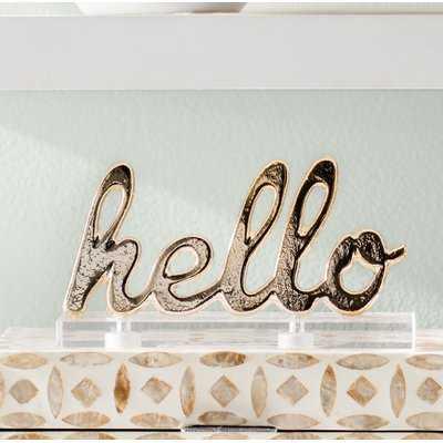 Aluminum/Acrylic Hello Letter Blocks - Wayfair