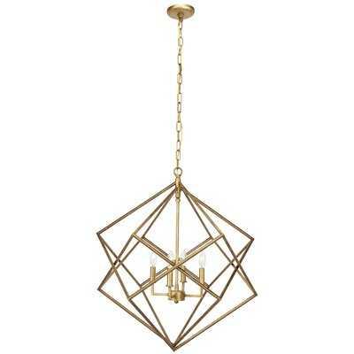 Tekoa 4-Light Candle Style Geometric Chandelier - Wayfair