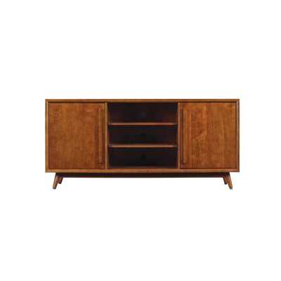 Leawood TV Stand for 60 in. TVs in Mahogany Cherry - Home Depot
