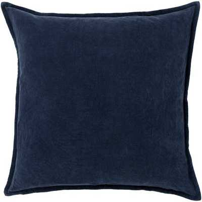 "Cotton Velvet, 20"" Pillow with Down Insert - Neva Home"