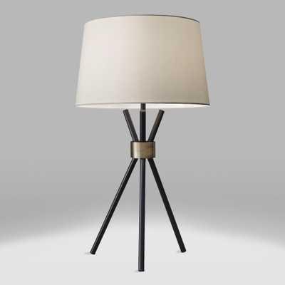 Black and Brass Tripod Kurt Table Lamp and Linen Shade Set by World Market - World Market/Cost Plus