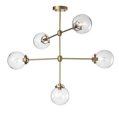 Wrought Studio Nieves 5-Light Sputnik Chandelier - Wayfair