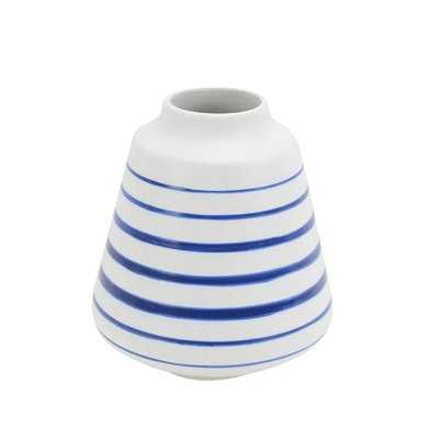 Cerie Ceramic Striped Table Vase - Wayfair