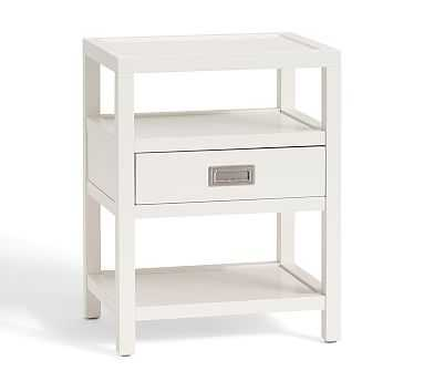 Lonny Bedside Table, White - Pottery Barn