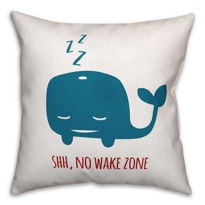 Jered Sleepy Whale Throw Pillow - Wayfair