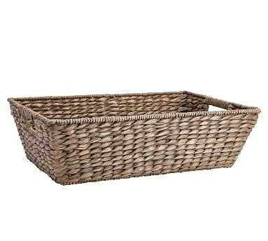 Charleston Basket Underbed, Large - Gray - Pottery Barn