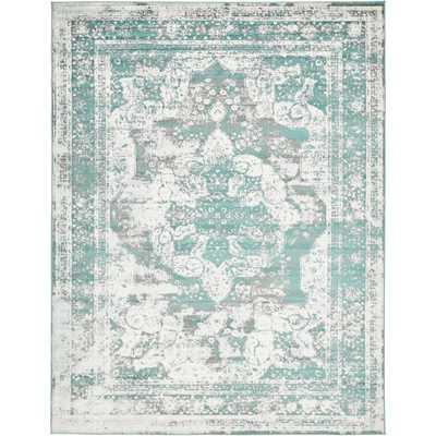 Sofia Turquoise 9' x 12' Rug - Home Depot