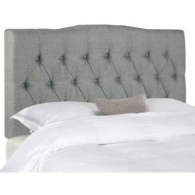 Safavieh Axel Grey King Headboard - Home Depot