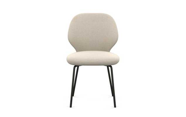 Kit Dining Chair with Natural Fabric and Matte Black legs - Interior Define