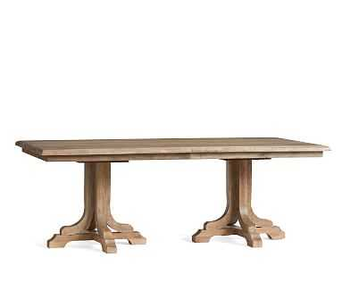 Linden Extending Dining Table , Belgian Gray - Pottery Barn