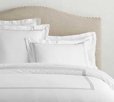 Grand Organic Duvet Cover, Full/Queen, Gray Mist - Pottery Barn