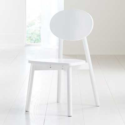 Kelsey White Play Chair - Crate and Barrel