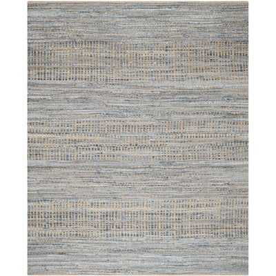 Bernd Hand-Woven Natural/Blue Area Rug - Wayfair