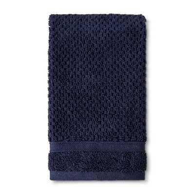 Hand Towel Performance Texture Bath Towels And Washcloths Xavier Navy - Threshold - Target