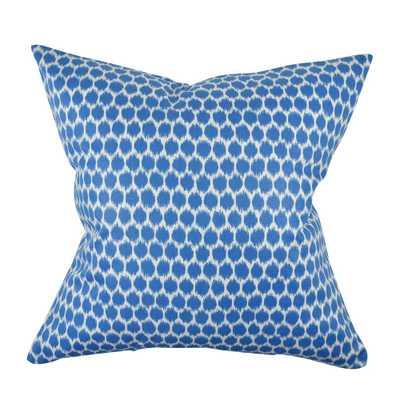 Sea Blue Polka Dot Designer Pillow, Blues - Home Depot