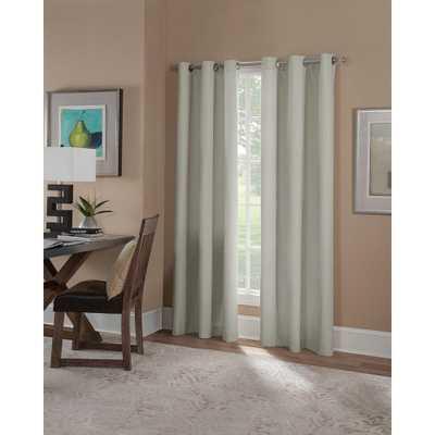 Solaris Semi-Opaque Linen Microfiber Grommet Curtain (1 Panel) - Home Depot