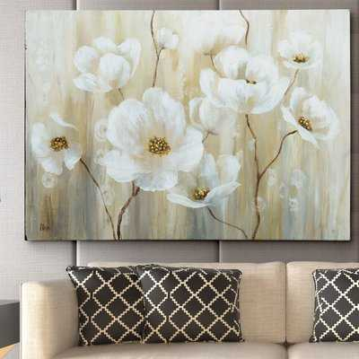'Shimmering Blossoms' Painting Print on Wrapped Canvas - Birch Lane