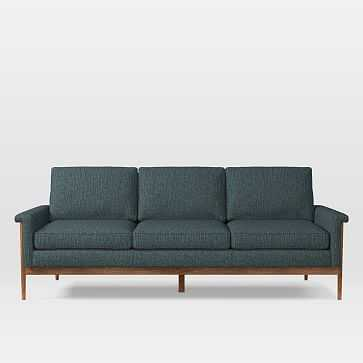 Leon 3 Seater Sofa, Heathered Tweed, Marine - West Elm
