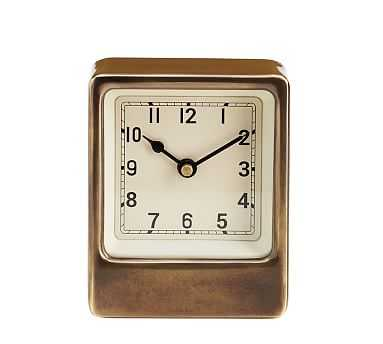 Anton Desktop Clock, Small - Pottery Barn