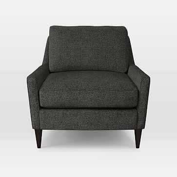 Everett Chair, Heathered Tweed, Granite - West Elm