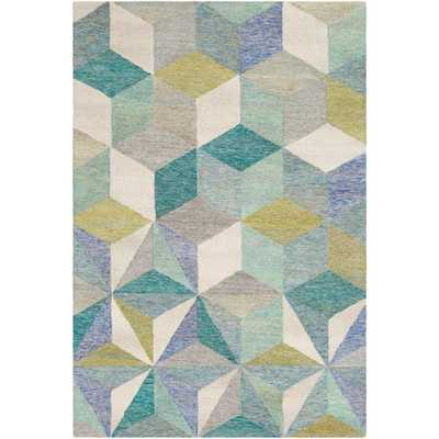 Artistic Weavers Vivianne Teal (Blue) 8 ft. x 10 ft. Geometric Area Rug - Home Depot