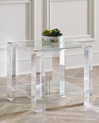 Langston Acrylic Side Table - Horchow