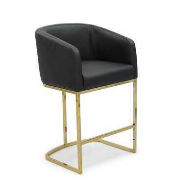 Stevan Bar & Counter Stool in Gold Frame - Wayfair