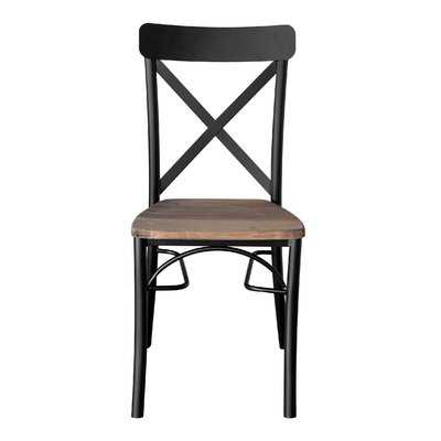REZ Furniture Dining Chair in Brown/Black - Wayfair