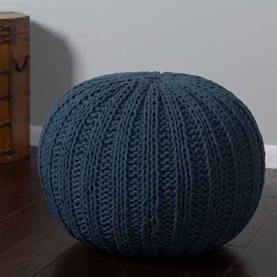 Midnight Blue Accent Pouf - Home Depot