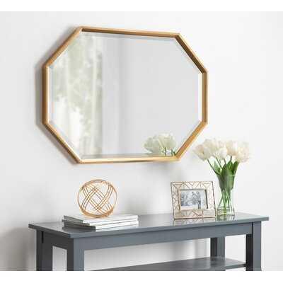 Botello Elongated Octagon Modern Beveled Accent Mirror - Gold - Wayfair