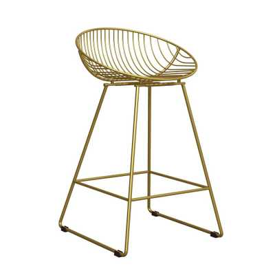 Ellis Wire Counter Stool Gold - Cosmoliving - Target
