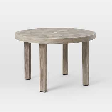"""Portside Round Dining Table, 48"""", Weathered Gray - West Elm"""