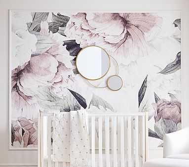 Anewall Blush Floral Temporary Wallpaper - Pottery Barn Kids