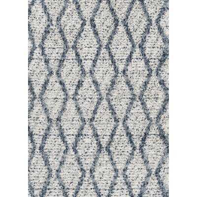 Contemporary Gray/Blue Area Rug - Wayfair