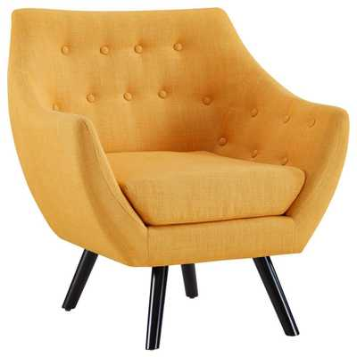 Mustard (Yellow) Allegory Arm Chair- Mustard - Home Depot