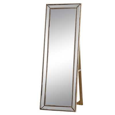 Rectangle Courtney Floor Mirror Gold - Abbyson Living - Target